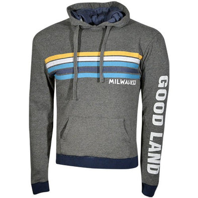Happy Stripe Hoody Grey