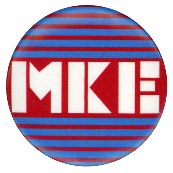 MKE Stripes Button