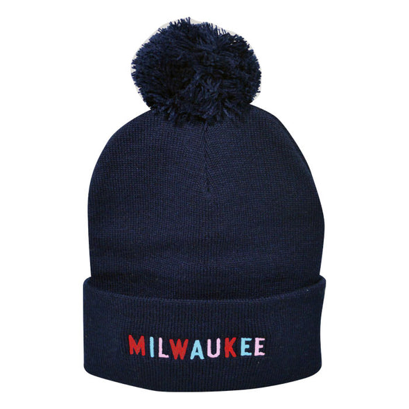 Milwaukee Embroidered Knit Pom Hat