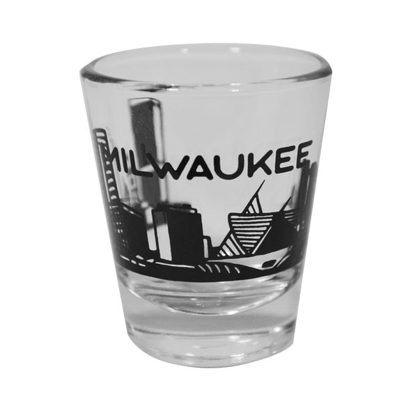 Milwaukee Skyline Shot Glass