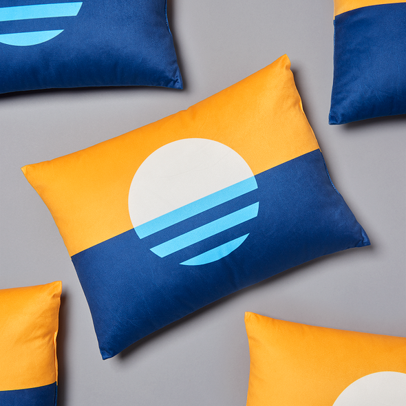 "Peoples Flag 14"" Pillow"