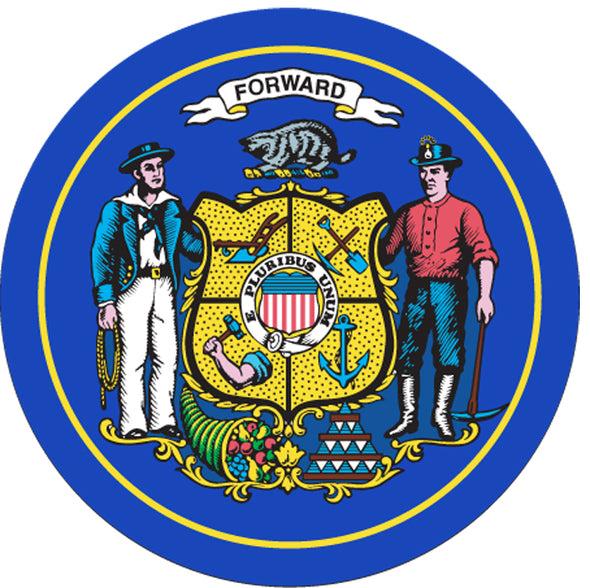 WI Flag Button