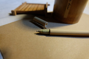 Refillable Bamboo Pen