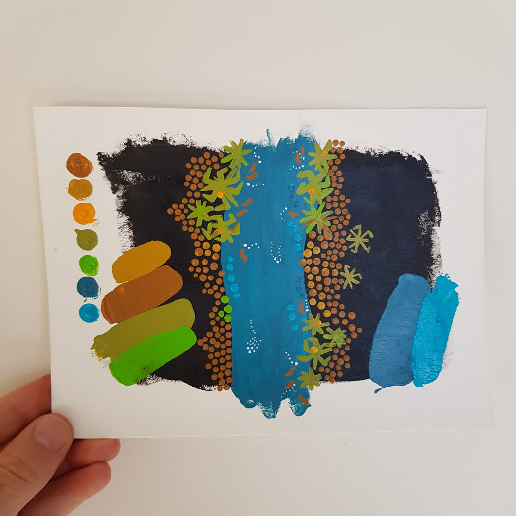 A5 Art Swatch #12 Pandanus