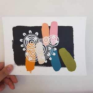 A5 Art Swatch #15 Connections
