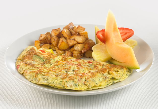 B06. Omelette with Ham and Cheese