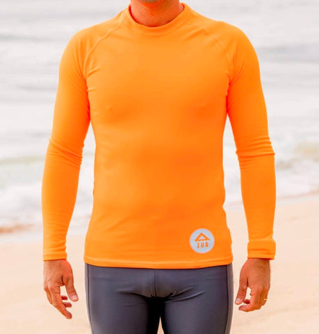 Downwind Thermal Paddling Top - Hi-Vis Orange