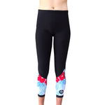 Women SurfFleece Thermal Tights - Hibiscus