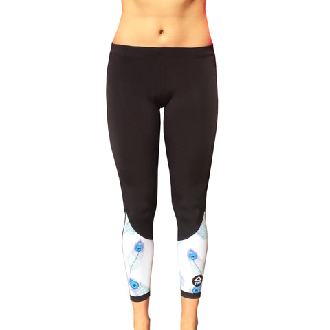 Women SurfFleece Thermal Tights - Peacock