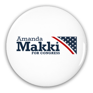 Amanda Makki for Congress 2 Pack Buttons