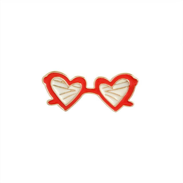 Heart glasses - Red
