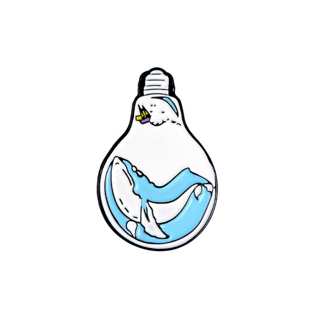 Whale in a lightbulb