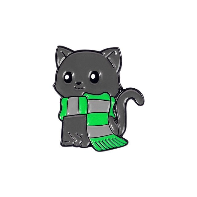 Cat - Green scarf
