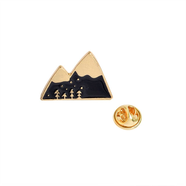 Mountains - Black and gold