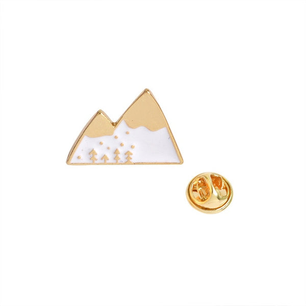 Mountains - White and gold