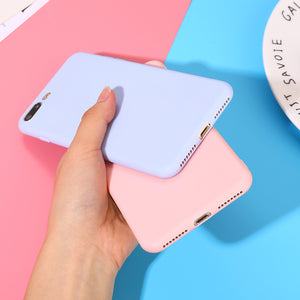 CANDY COLOR Capa Protetora de Silicone para iPhone