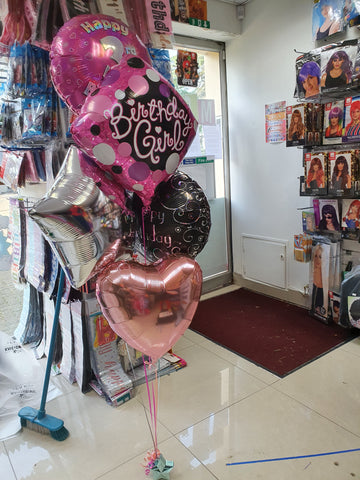 Foil balloon bouquet