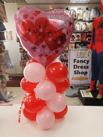 Valentine's mini air-filled balloon display