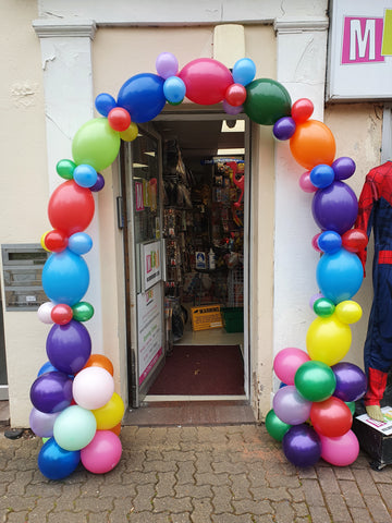 Deluxe link air-filled balloon arch