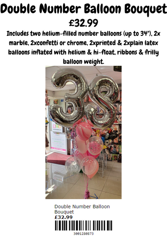 Double Number Balloon Bouquet