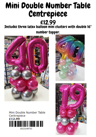 Mini Double Number Table Centrepiece