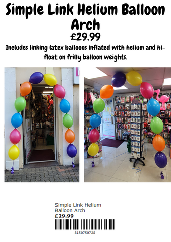 Simple link balloon arch