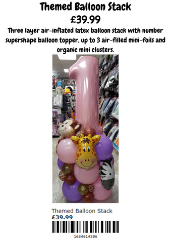 Themed balloon stack