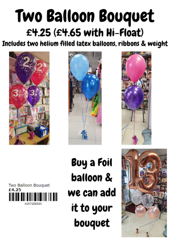 Two Balloon Bouquet