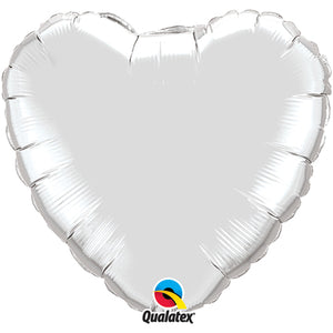 "18"" Silver Heart Foil Balloon"