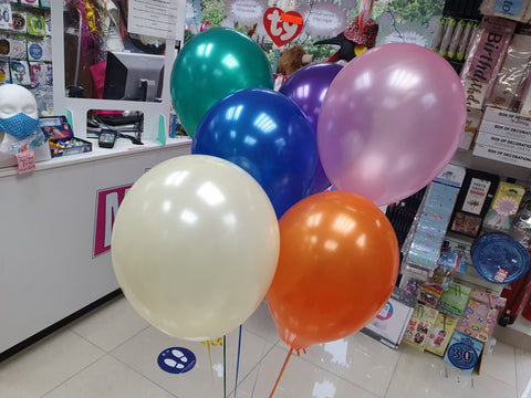 Bunch of Six Plain Latex Helium Balloon