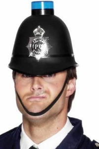 Police Helmet with Flashing Light