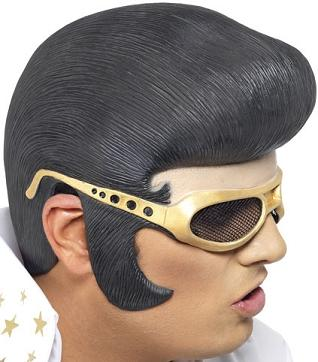 Elvis Rubber Headpiece & Shades