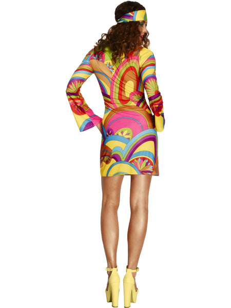 Fever 60s Flower Power Costume
