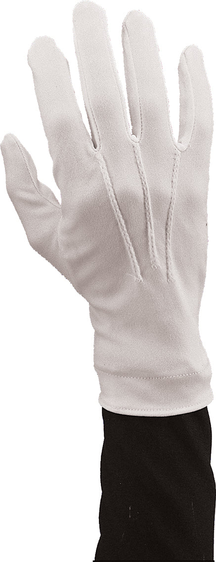 Deluxe Men's White Nylon Gloves