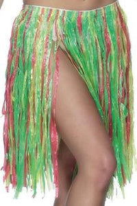 Short Multi-Coloured Grass Skirt