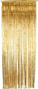 Gold Tinsel Shimmer Curtain