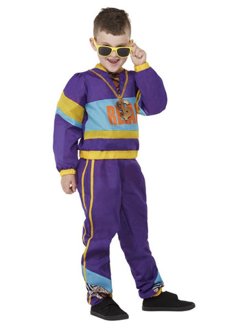 80s Purple Relax Tracksuit Costume