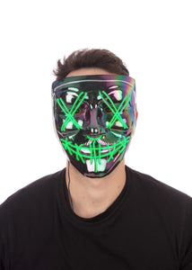 Anarchy Iridescence Light-Up Mask