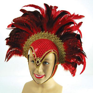 Feather Helmet Red