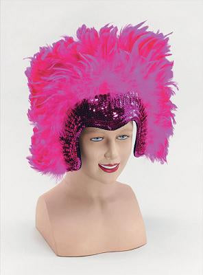 Pink Deluxe Feather Headdress