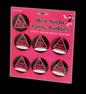Hen Night 7 Badge Set