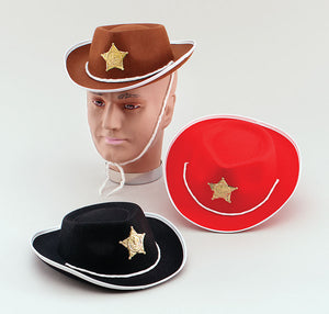 Child's Felt Cowboy Hat - 3 Colours