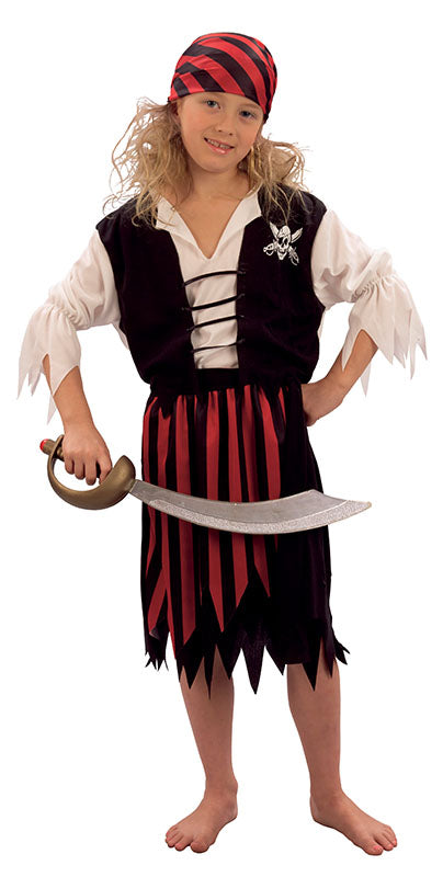 Child's Pirate Girl Costume