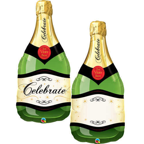 "39"" Celebrate Champagne Bottle Foil Balloon"