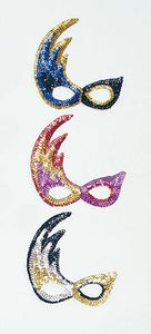 Flame Sequin Eye Mask - 3 Colours