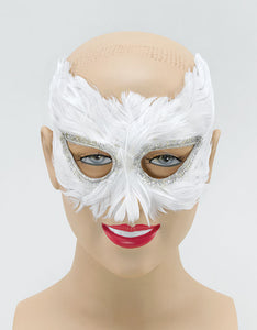 White Feather Eyemask