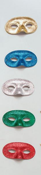Glitter Domino Eye Masks - 5 Colours