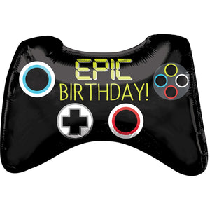 Epic Birthday Game Controller Supershape Foil Balloon