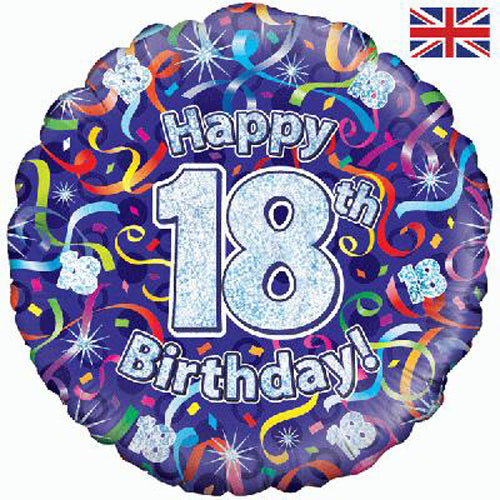 "18"" Streamers 18th Birthday Foil Balloon"