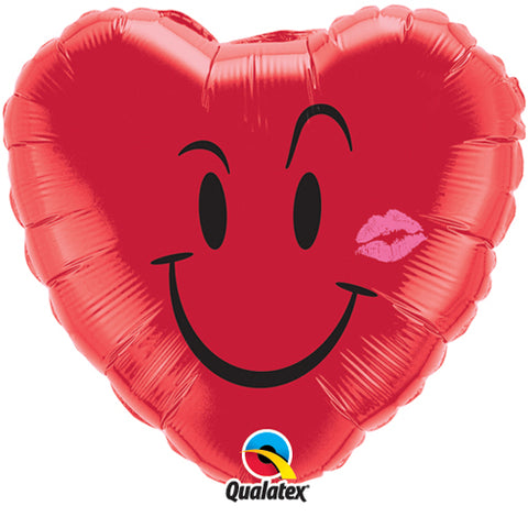 18 inch Naughty Smile & Kiss Foil Balloon